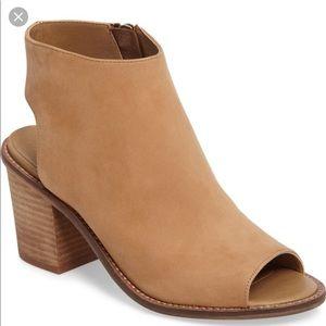 Camel Peep Toe Heels
